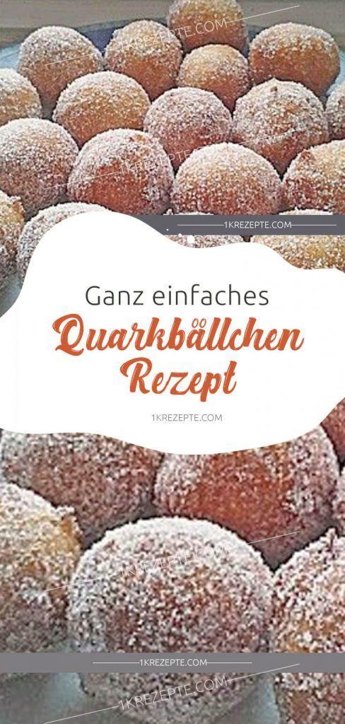 Ganz einfaches Quarkbällchen Rezept #enklaefterrätter