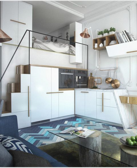 Homedesigning via 4 awesome small studio apartments with lofted beds