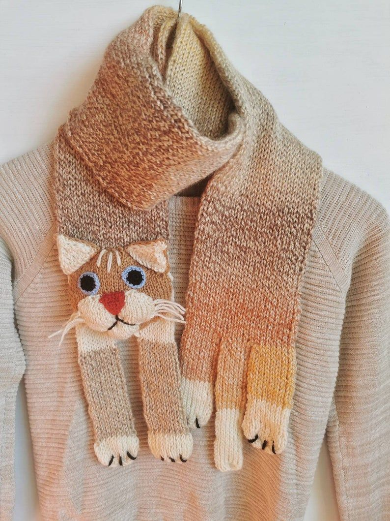 Photo of Kitty Knitted Scarf