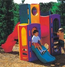 Outdoor Plastic Playground For Kids (KY141-3)