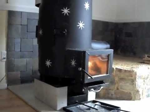 Rocket Stove Mini Mass Heater Note The Higher Chimney The Glass