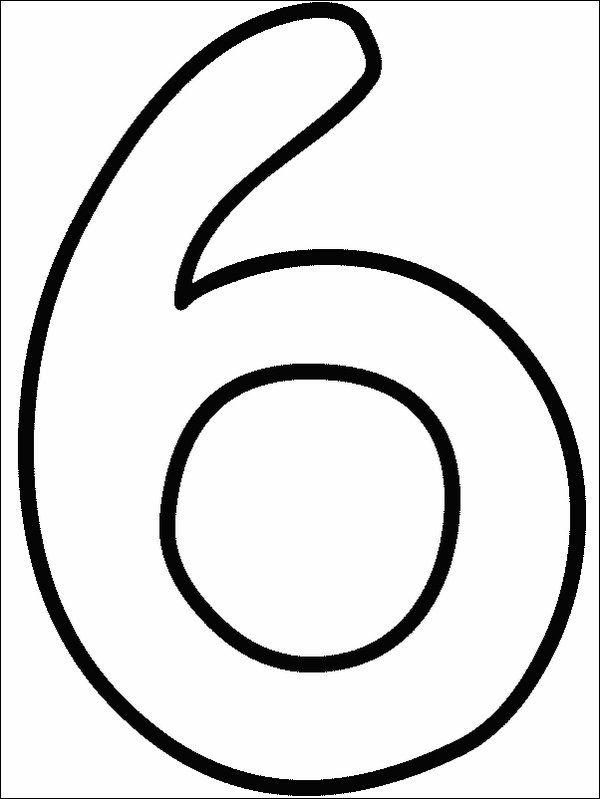 View Numbers 6 Numbers Preschool Free Printable Numbers Abc Coloring Pages