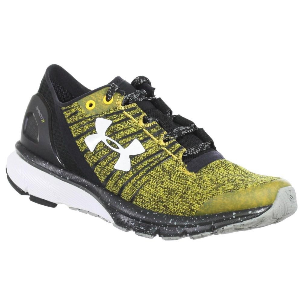 UNDER ARMOUR WOMEN S ATHLETIC SHOES TEAM CHARGED BANDIT 2 BLACK YELLOW 10.5  M  36d0c8f8a8