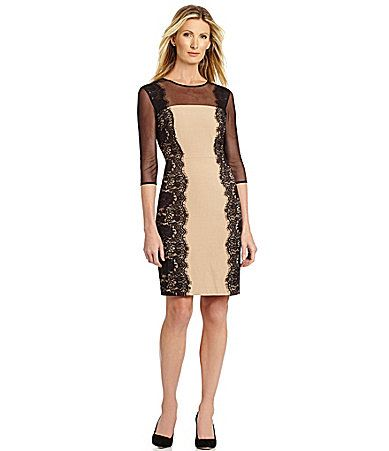 Leslie Fay MixedMedia Sheath Dress #Dillards