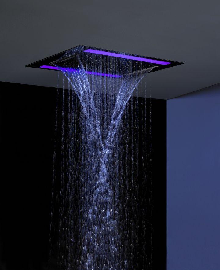 built in shower head