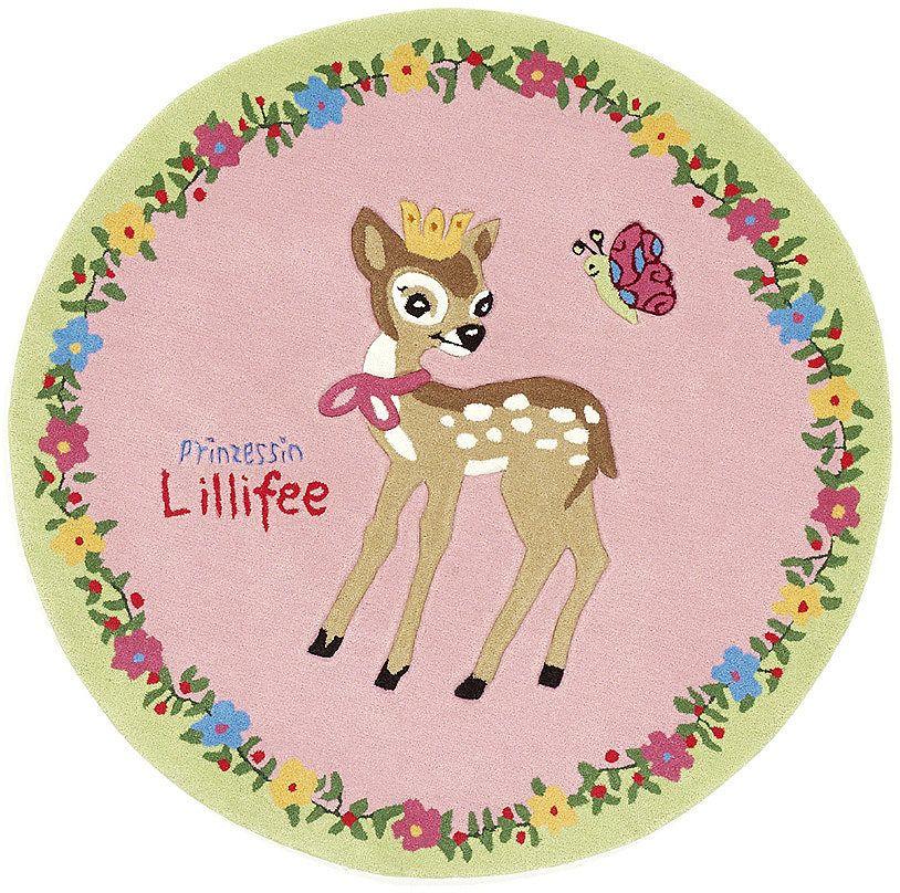 Unique Teppich Prinzessin Lillifee LI handgetuftet Konturenschnitt