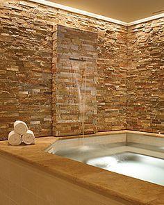 waterfall into bath Google Search bathroom Pinterest Bath