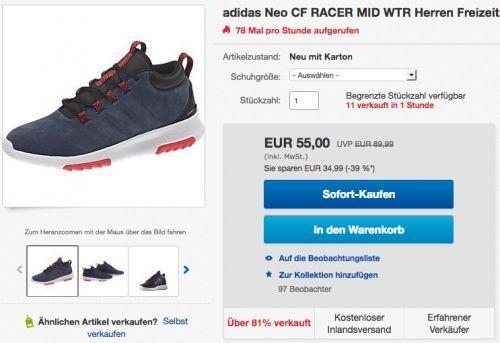adidas Neo CF RACER MID WTR Herren Freizeitschuh