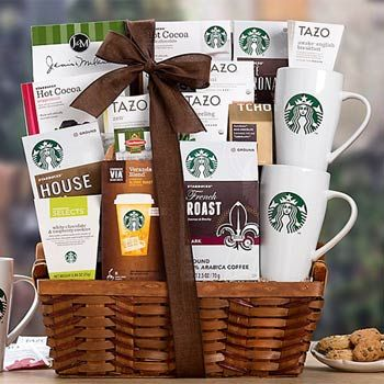 Starbucks® Gourmet Coffee Gift Basket.  See more at www.pro-gift-baskets.com!