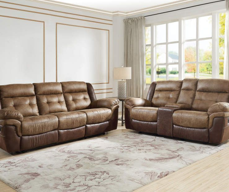 Mesa Brown Motion Sofa Living Room Collections Apartment Living