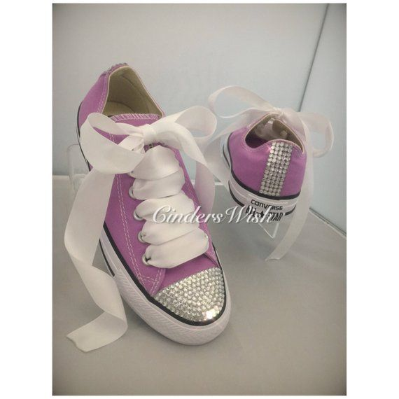 252aef6fd433 Purple Bling toe converse   sparkle converse   customised diamante converse    diamante converse