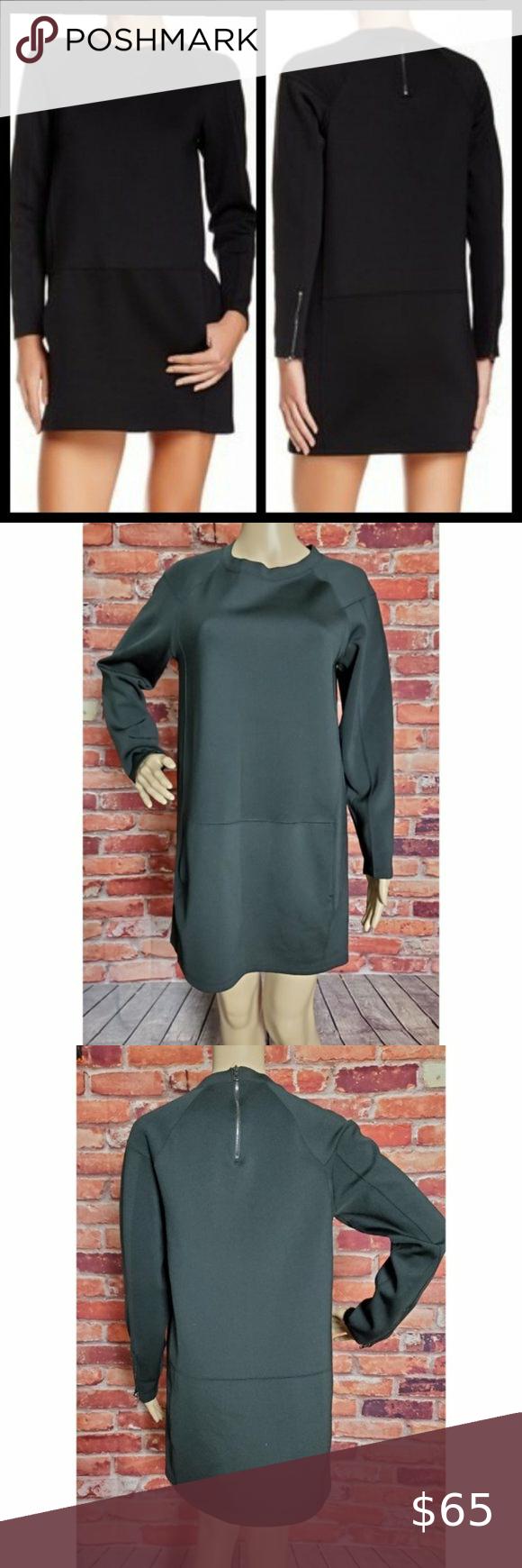J Brand Black Colleen Dress Medium EUC