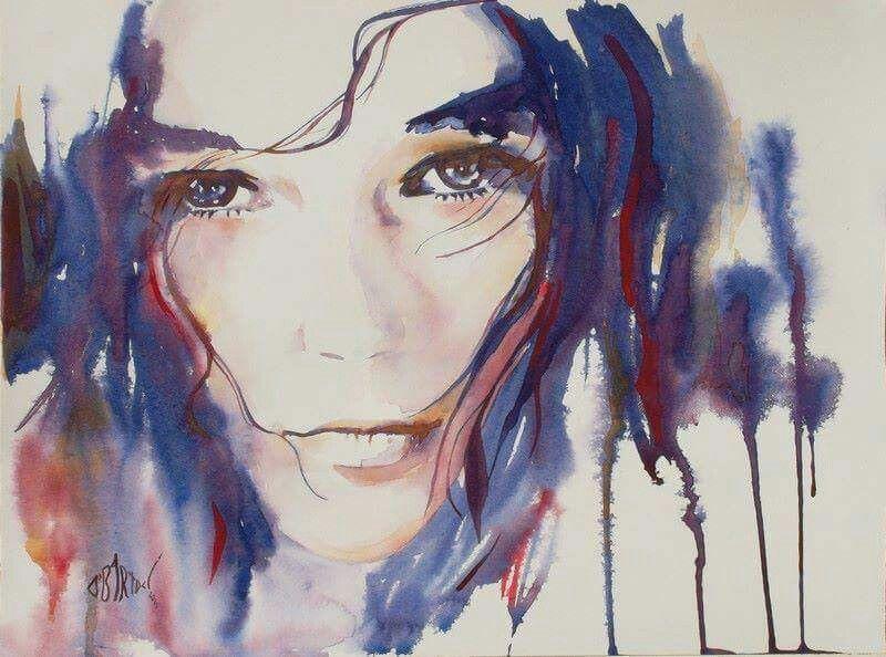 Olivier Bartoli Art Visage A L Aquarelle