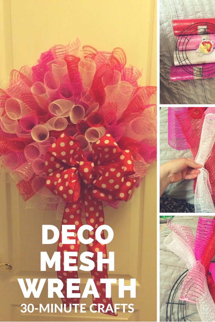 Step By Step How To Making A Curly Deco Mesh Wreath Perfect For