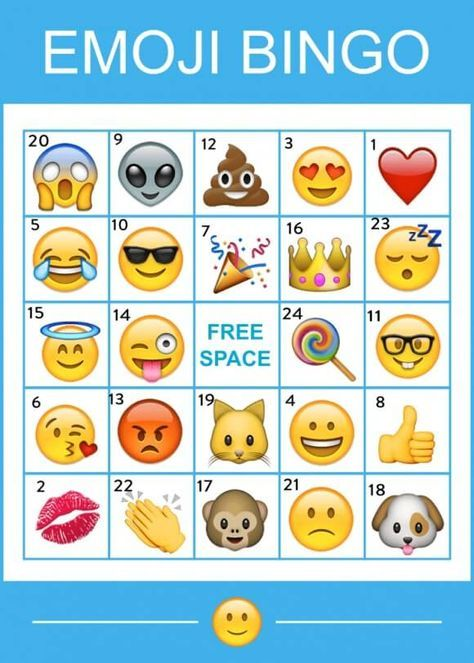 Emoji Bingo Game Printable
