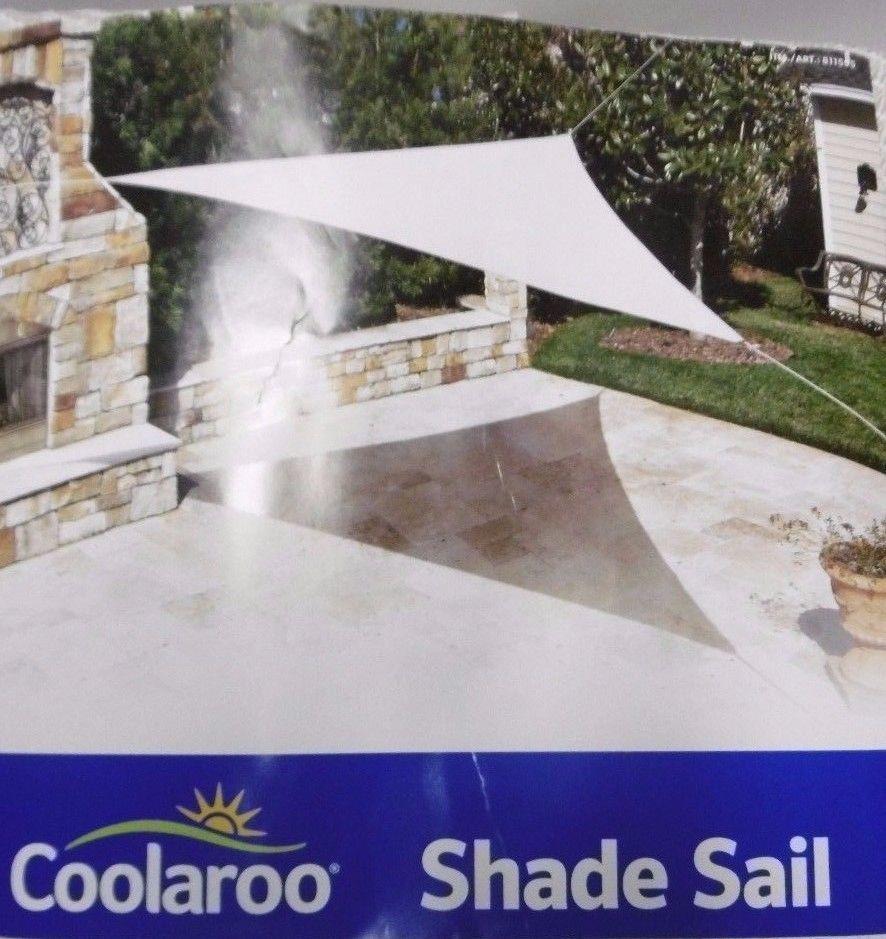Coolaroo Ready To Hang Shade Sail Tan 13ft Triangle 13 X13 X13 W 16 Ropes B36 Coolaroo Coolaroo Shade Sail Shade Sail Sun Sail Shade