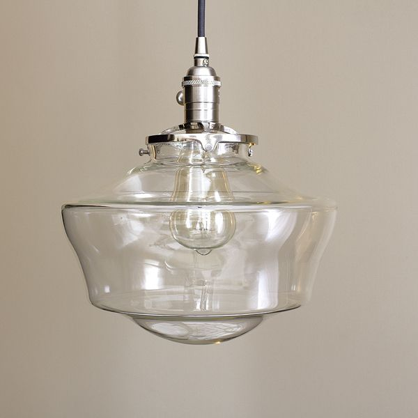 Clear glass schoolhouse pendant lighting by olderbrick lighting clear glass schoolhouse pendant lighting by olderbrick lighting check us out on etsy https aloadofball Image collections