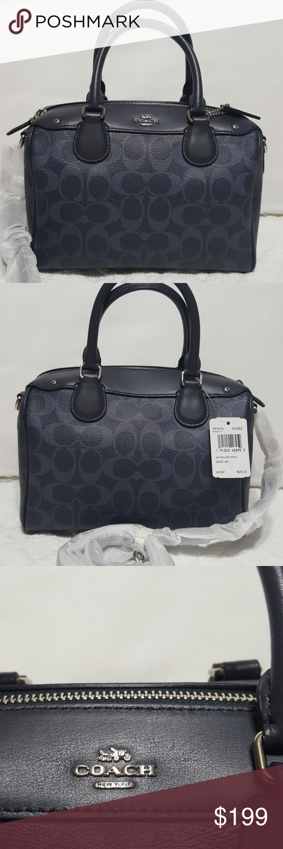 NWT 👜COACH 👜 New with tags Authentic Coach Leather denim