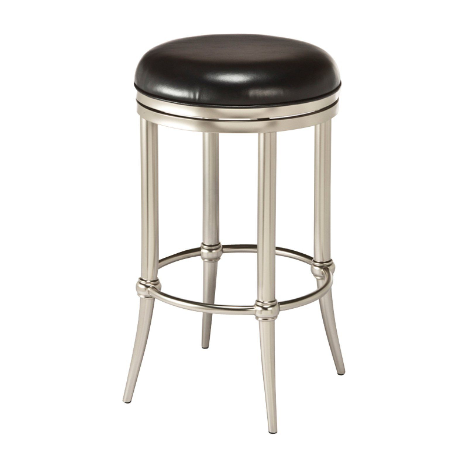 Hillsdale Cadman Backless Dull Nickel Counter Stool Counter Stools Backless Swivel Counter Stools Backless Bar Stools