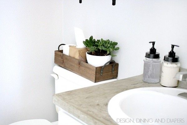 Remodelaholic Why You Should Use Trays In Your Home Decor Farmhouse Bathroom Decor Modern Bathroom Decor Restroom Remodel