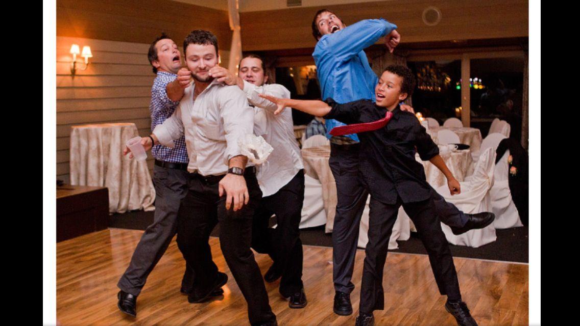 Garter Toss Wedding Photo