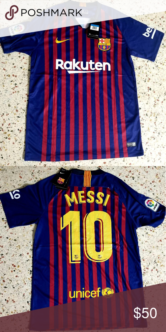 super popular 30f32 c5918 New Messi Barcelona Jersey Season 18-19 Home Messi Jersey ...