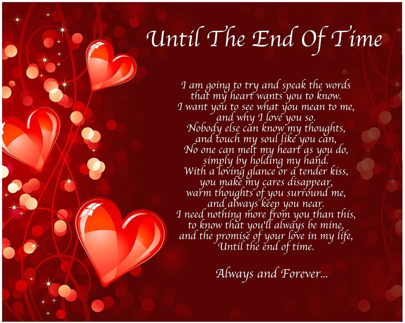 Personalized LOVE Poem GIFT  The PERFECT Valentine/'s Day Gift for HIM or HER