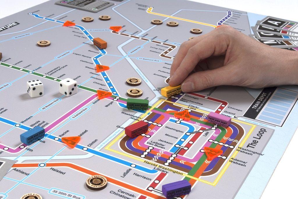 El The Chicago Transit Adventure Board Game Board games
