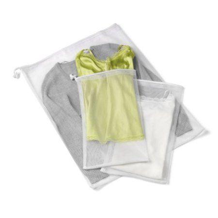 Amazon.com: Honey-Can-Do LBG-01148 3-Piece Mesh Wash Bag Set, White: Home  Kitchen