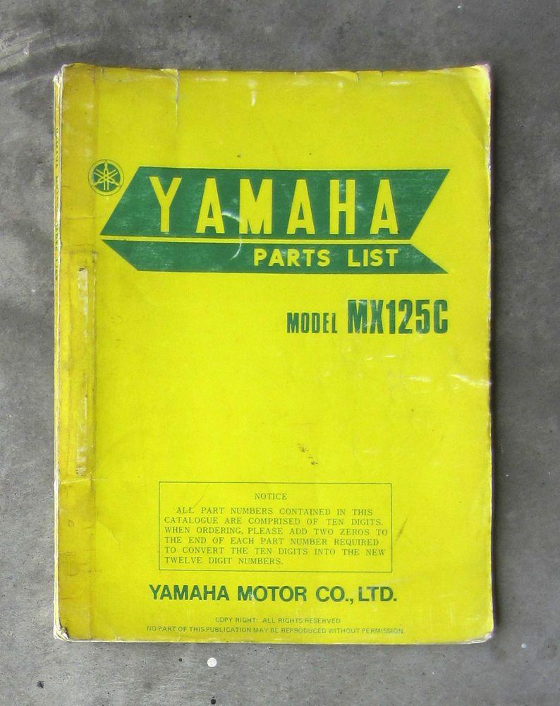Yamaha Mx125 1975 Workshop Parts List Manual For Mx 125 Repair Service Restore Yamaha Yamaha Parts Yamaha Motor Yamaha