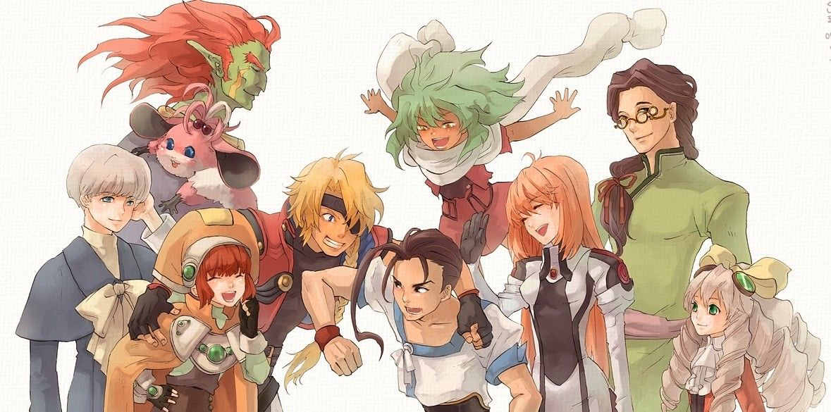 The cast of Xenogears Character art, Scary movies, Mecha