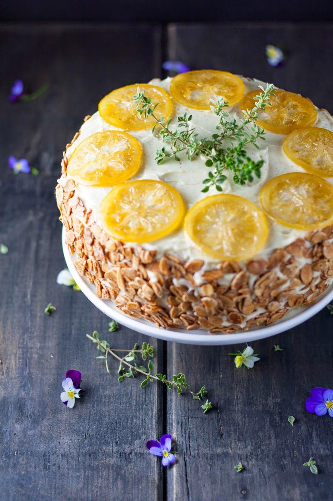 Lemon Cassis Torte