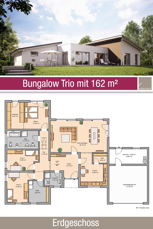 Bungalow Grundriss 162 m² 4 Zimmer Erdgeschoss
