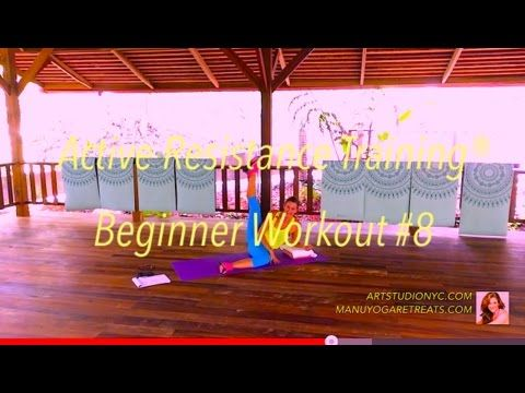 art method  home  beginner workout 8  yoga block