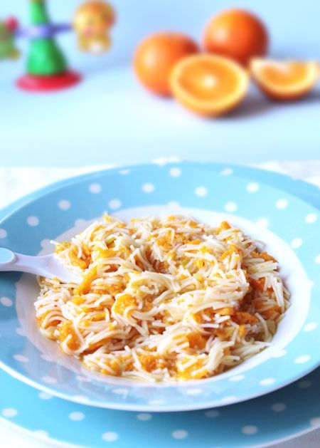 Fideos Con Calabaza Para Niños A Partir De 1 Año Pequerecetas Comida Para Bebés Comida Recetas De Comida
