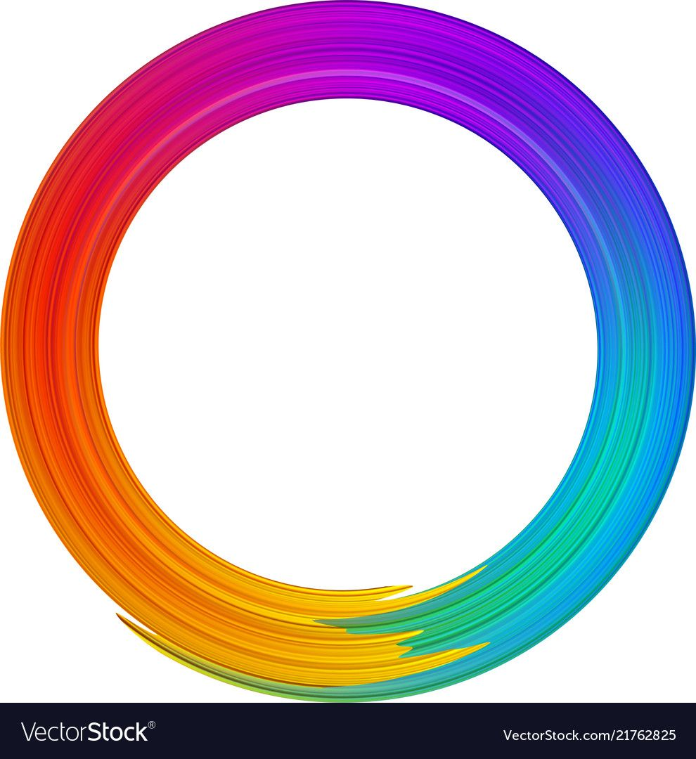 Colorful gradient brush stroke spectrum Royalty Free