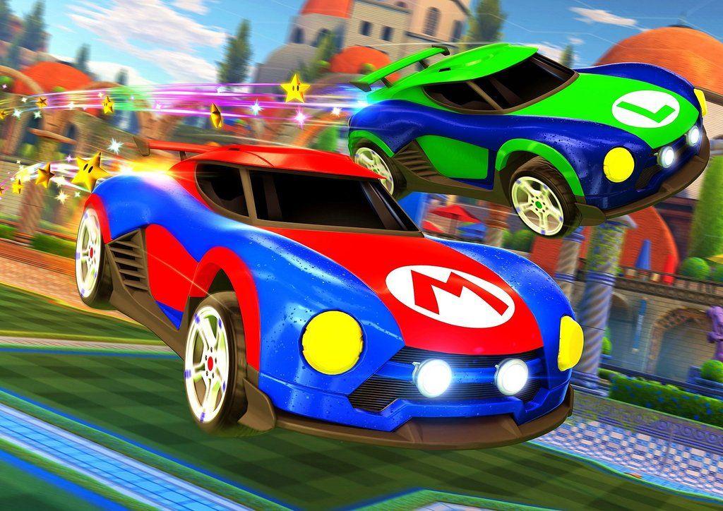 Rocket League (feat Mario & Luigi) Poster in 2020 Rocket