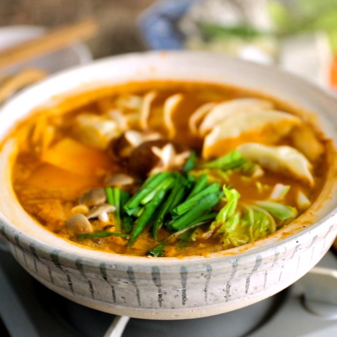 Kimchi Gyoza Hot Pot