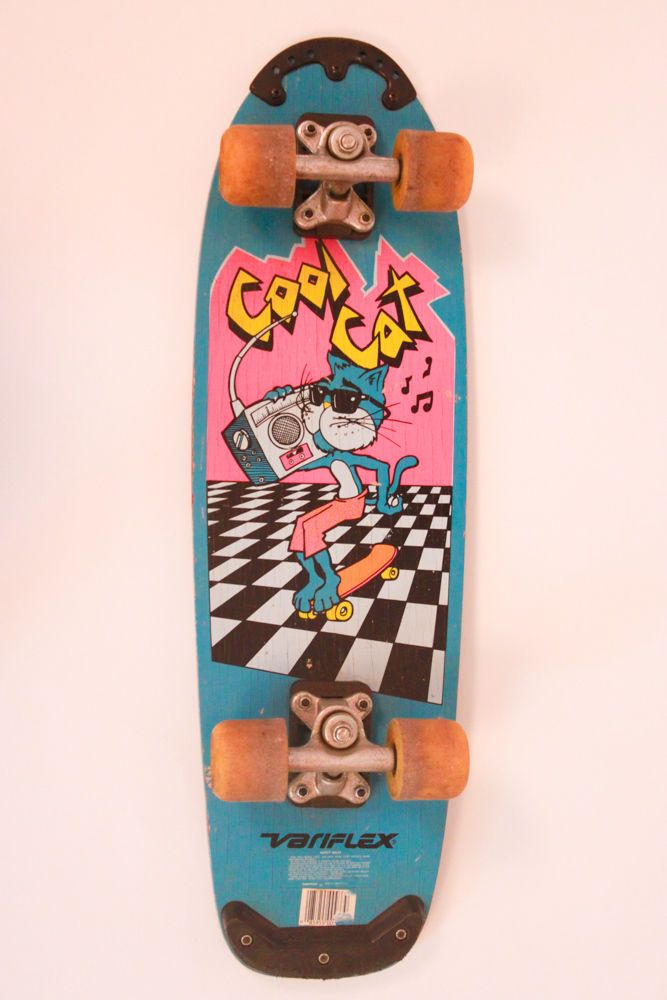 vintage 80s variflex cool cat complete skateboard. Black Bedroom Furniture Sets. Home Design Ideas