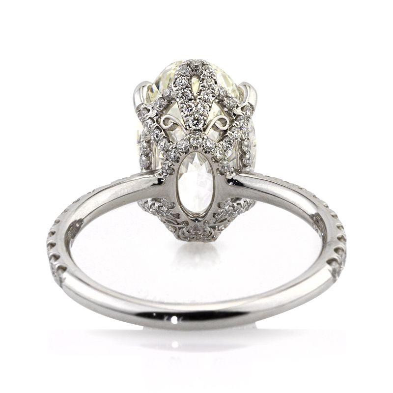 5.09ct Oval Cut Diamond Engagement Ring #2916-1
