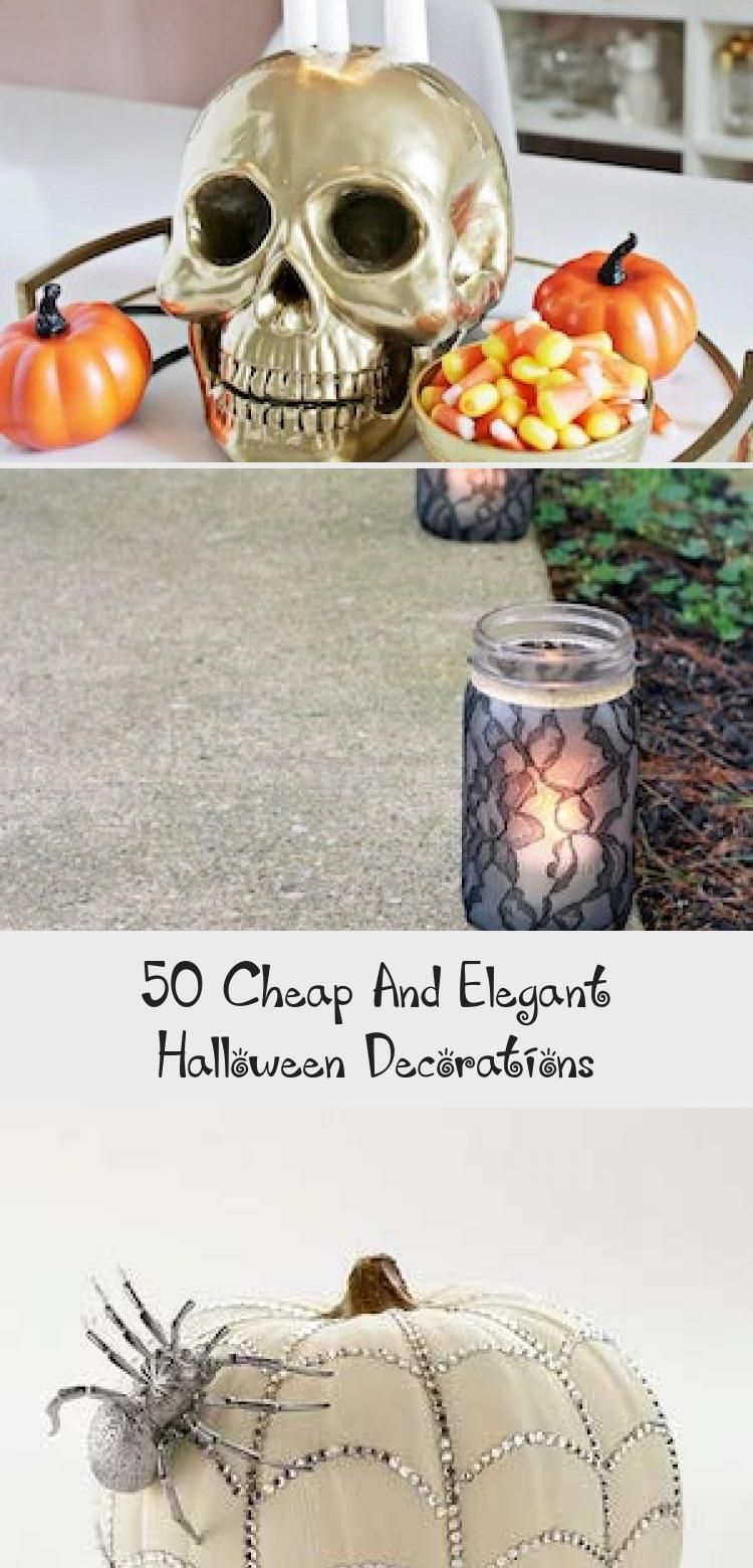 50 Cheap And Elegant Halloween Decorations - Bilgi Tahtası #eleganthalloweendecor