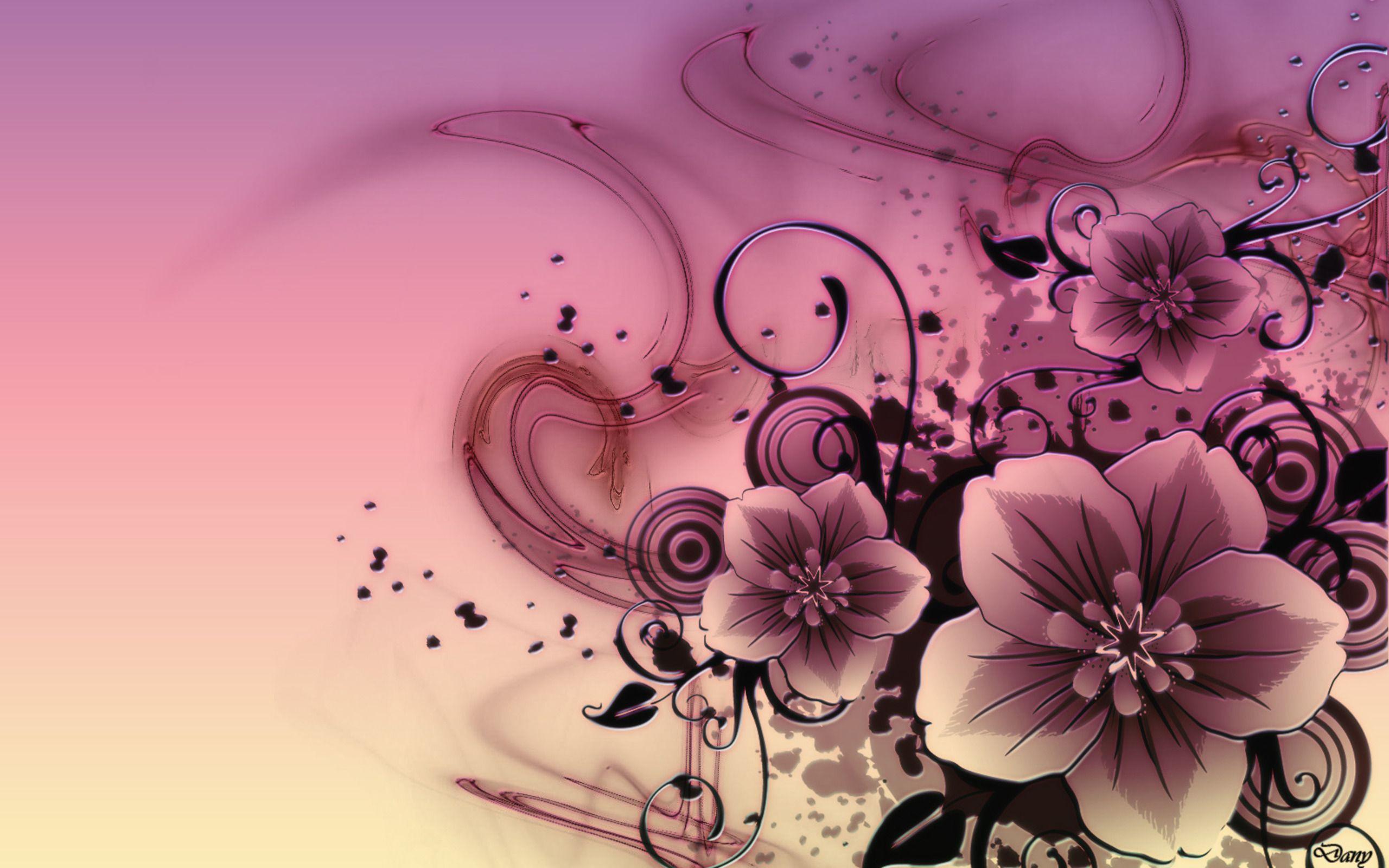 Abstract Flowers Hd Desktop Wallpaper High Definition Fullscreen Abstract Wallpapers Flower Desktop Wallpaper Pink Flower Tattoos Flower Art