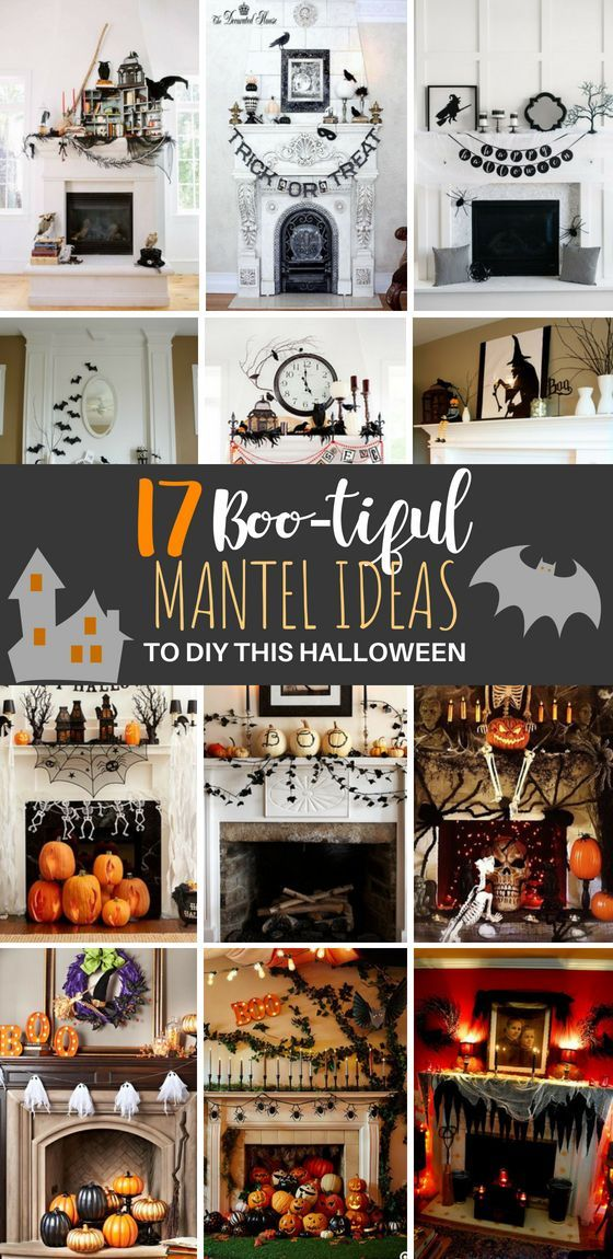 17 Spooky Halloween Mantel Ideas You Need to DIY Halloween Love