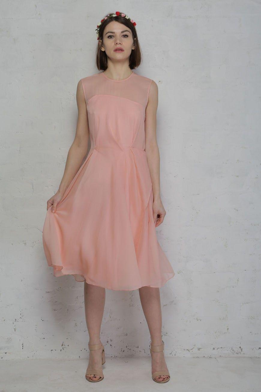 Rose Tan French Connection Sunray Chiffon Dress | bridesmaid dresses ...