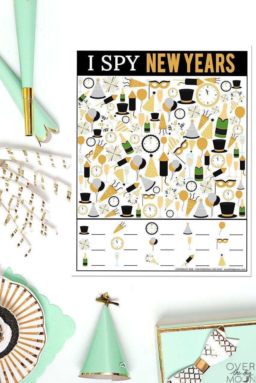 New Year's I Spy Printable Game, 2020 (Görüntüler ile)