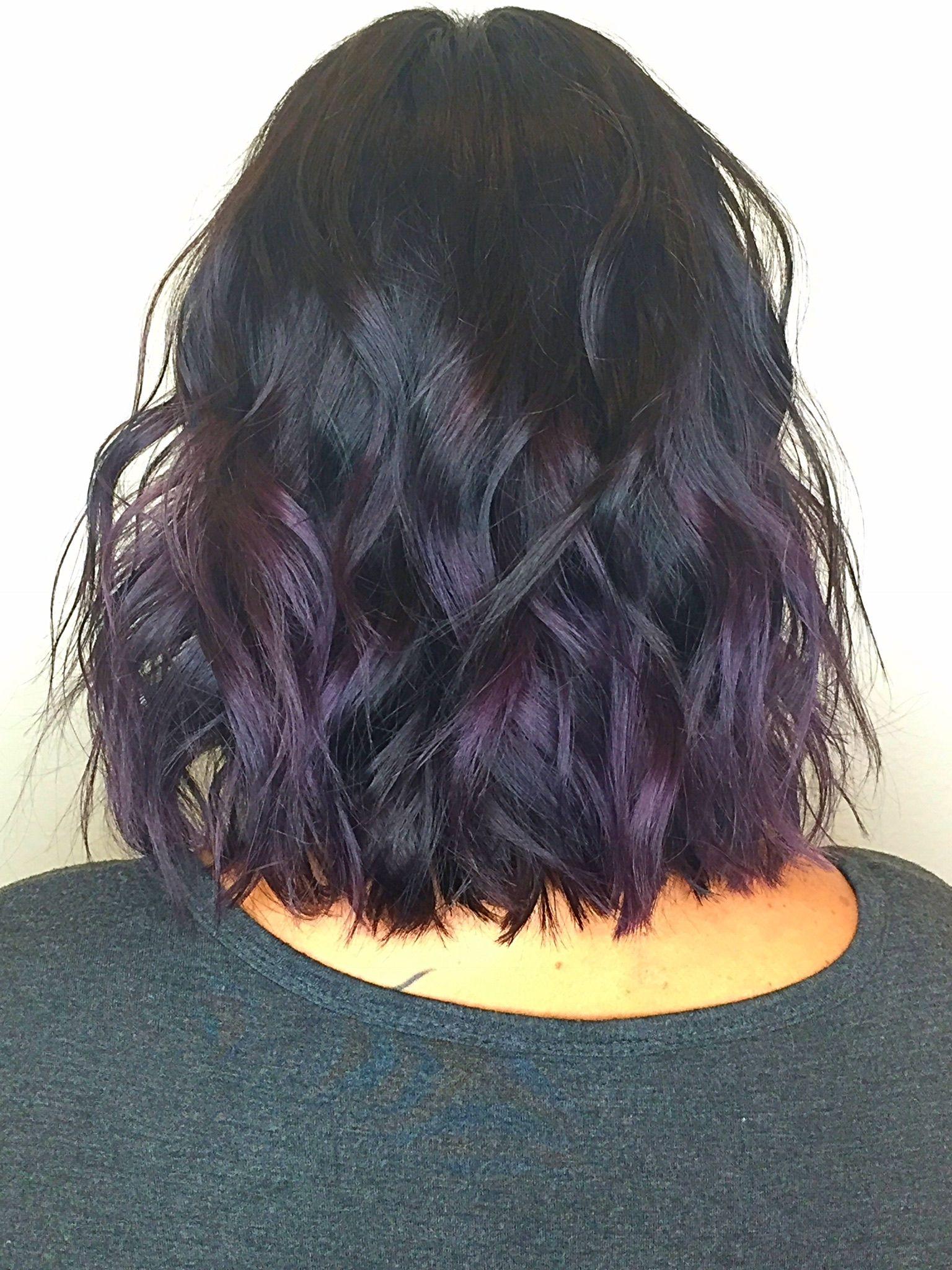 Purple Balayage Brunette Purplehair Balayage Keune Pravana - Haircut missoula