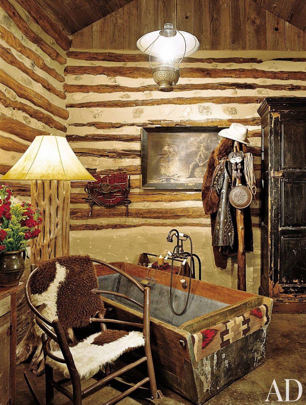 Rustic Bathroom In Fredericksburg Texas