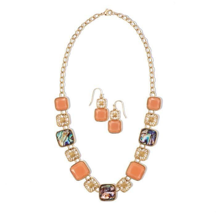 Splash of Color Necklace and Earring Set