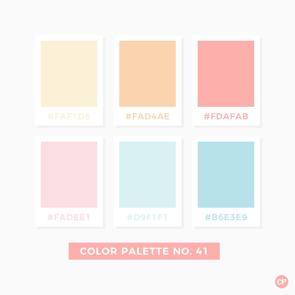 Color Palette No 41 Pastel Colour Palette Pantone Colour Palettes Color Palette