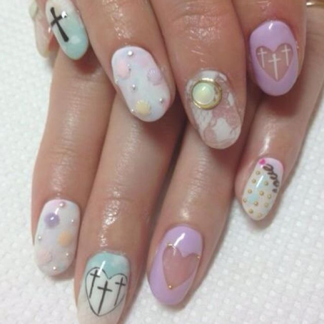 3D Pastel with a hint of 90's grunge | nails | Pinterest ...
